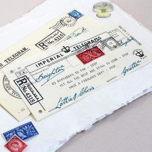 Personalised Birthday Telegram Age 80 To 90 - for her