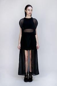 Layered Chiffon Skirt - skirts & shorts