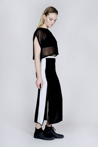 Sports Luxe Panelled Skirt - women's fashion