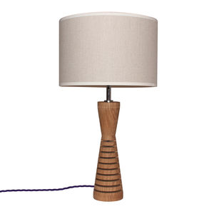 Dorset Small Oak Lamp - lighting