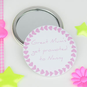 Personalised 'Great Mum's Get Promoted' Mirror - beauty accessories