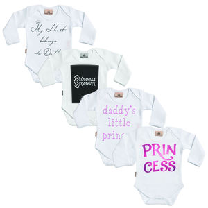 Princess Baby Girl Babygrow Gift Set - babygrows