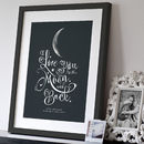 Personalised 'I Love You To The Moon And Back' Print