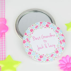 Personalised 'Best Grandma' Mirror - compact mirrors