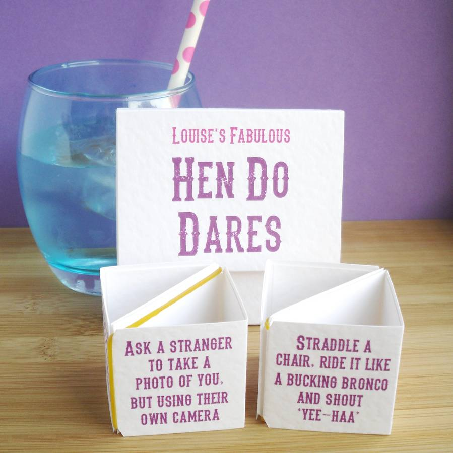 Personalised Hen Party Mr And Mrs Game In 2019: Personalised Hen Do Dares By Paperbuzz