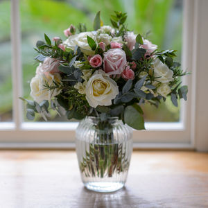 Antique Blush Roses And Scented Herb Flower Bouquet - home accessories