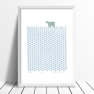 'Polar Bear' Limited Edition Print Framing Available - nursery pictures & prints