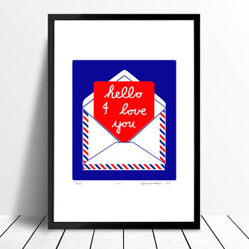 'Hello' Limited Edition Print Framing Available