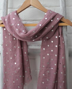 Silver Spotted Scarf - scarves