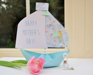 Mother's Day Paper Boat Card Keepsake Gift