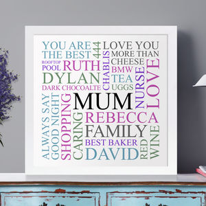 Personalised Word Art Typography - canvas prints & art