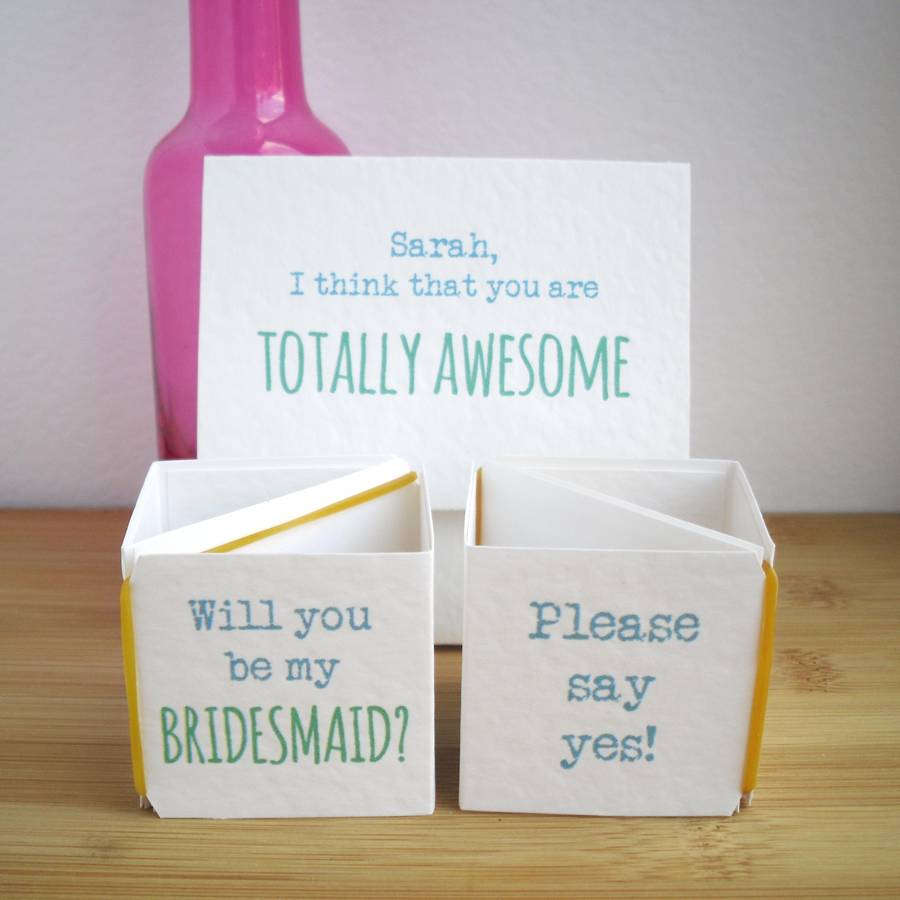 Personalised 'Be My Bridesmaid?' Popping Card