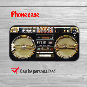 Black Boombox iPhone Case - tech accessories for her