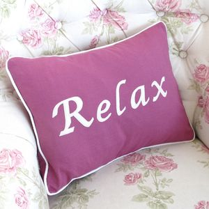 Handmade 'Relax' Cushion