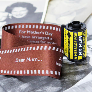 Message In A 35mm Film Reel For Mum - gifts for mothers