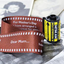 Message In A 35mm Film Reel For Mum