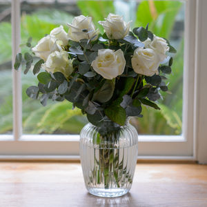 White Rose Classic Bouquet