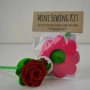 Mini Felt Flower Sewing Kit