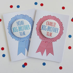 Big Brother To Be Rosette Card