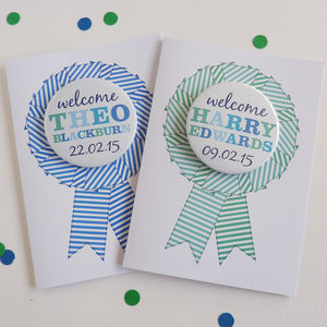 New Baby Boy Card With Magnet