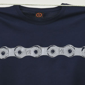 Bike Chain T Shirt With Reflective Print - men's fashion