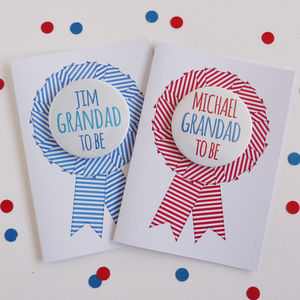 Grandad To Be Card With Badge - last-minute cards & wrap