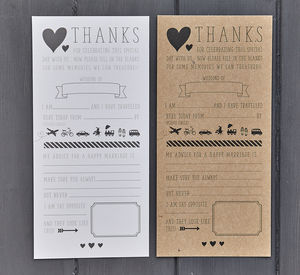 Pack Of 25 Wedding Advice Cards - table decorations