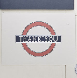 Vintage London Thank You Cards