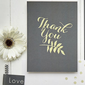 Glitter Glam Thank You Cards