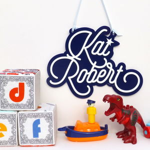 Personalised Children's Hanging Name Sign