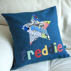 Boys' Personalised Cushion - children's room
