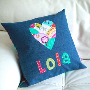 Girls' Personalised Cushion - baby's room