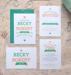 Just Your Type Wedding Invitation