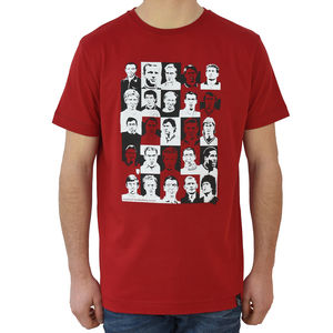 English Footballing Icons T Shirt - gifts for football fans