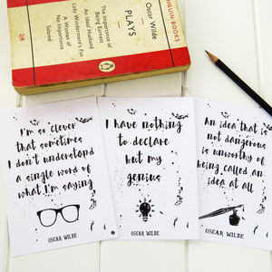 Oscar Wilde Quote Postcard Set