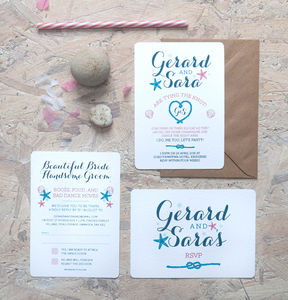 Sea Of Love Wedding Invitation - wedding stationery
