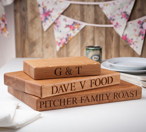 Personalised Oak Chopping Board - christmas home