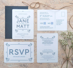 Anchored Together Wedding Invitation