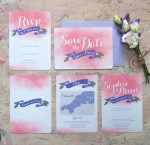 Forever In Love Wedding Invitation - macaron-inspired styling