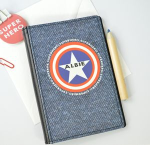 Boys Personalised Superhero Passport Cover - travel & luggage