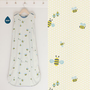 Baby Sleep Bag Merino + Organic Cotton 'Bumble' - children's nightwear