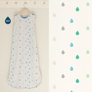 Baby Sleep Bag Merino + Organic Cotton 'Rainbow Rain' - baby sleeping bags