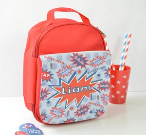 Boys Personalised Superhero Lunch Bag - lunch boxes & bags