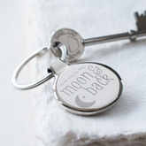 'Moon And Back' Key Ring - valentine's day