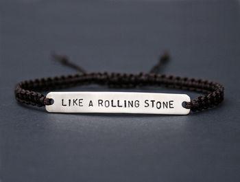 Personalised Men's Silver Macramé Bracelet