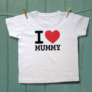 I Heart Mummy T Shirt - clothing