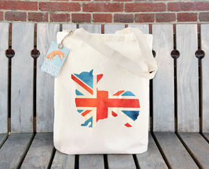 Union Jack Corgi Illustration Cotton Tote Bag - bags & purses