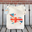 Union Jack Corgi Illustration Cotton Tote Bag