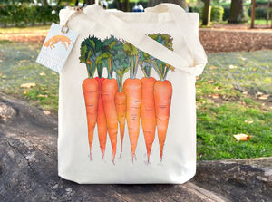 Carrots Illustration Tote Bag