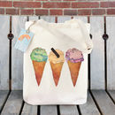 Ice Cream Illustration Tote Bag